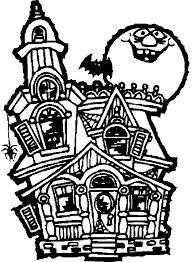 printable spooky house printable haunted houses for halloween holidays and observances