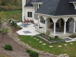 Concrete Patio With Pavers B T Klein S Landscaping Hardscapes Concrete Concepts