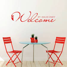 welcome sit relax enjoy vinyl wall sticker by mirrorin welcome sit relax enjoy vinyl wall sticker