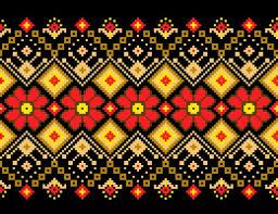 vector illustration of ukrainian folk seamless pattern ornament