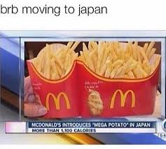 Meme Mcdonalds - mcdonald s japan mega potato meme cln digital