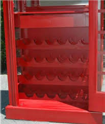 Red Phone Booth Cabinet Red British Phone Booth London Wine Bar Cabinet Old Cast Iron