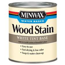 Home Depot Wood Stain Colors by Minwax 1 Qt White Tint Water Based Wood Stain 61806 The Home Depot
