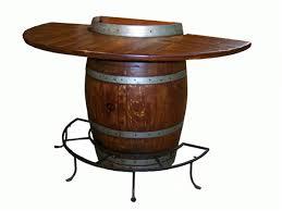 Wine Barrel Patio Table Half Wine Barrel Bar Table Inside Decor Philmore Buy Server And