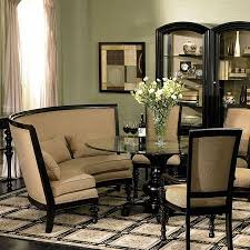 Dining Room Sets With Benches Curved Dining Bench This High Backed Curved Bench For A