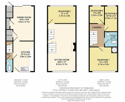 terraced house floor plans 4 bedroom terraced house for sale in bury st edmunds