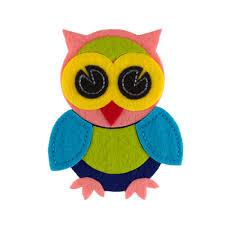 owl felt applique pink discount designer fabric fabric