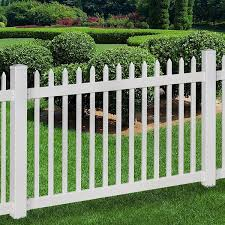 wam bam no dig fence nantucket vinyl picket fence with post and