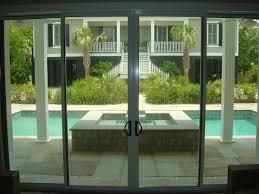 Sliding Glass Patio Door Hardware Decor Modern Living Room Decoration With Green Glass Door Plus