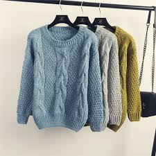 winter women vintage fisherman sweater style cable knit jumper for