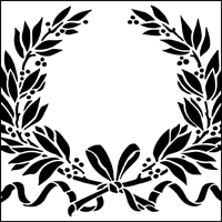 fancy garland stencil from the stencil library special interest