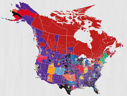 Toronto Canada Map by Twitter Map Shows Canada Loves The Nba Toronto Raptors Except B C