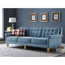 Turquoise Tufted Sofa by Tufted Blue Velvet Sofa Home Design Ideas