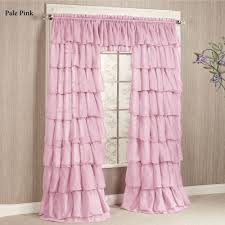 Pale Pink Curtains Decor Pink Ruffle Curtain Panel Home Design And Decoration