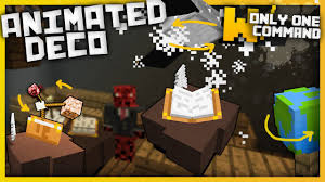 minecraft animated decorations with only one command block
