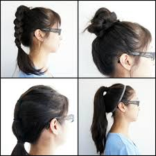 long hair style showing ears best hairstyles for the gym gym appropriate hairstyles secure