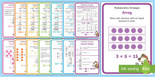 multiplication strategy posters multiplication strategy