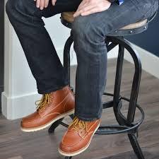 vance co men u0027s u0027wyatt u0027 faux leather lace up moc toe work boots ebay