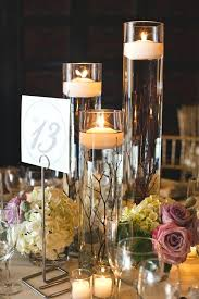 candle centerpieces for tables wedding table decor with candles stunning floating candle