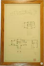 lot detail incredible frank lloyd wright signed blueprint