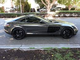 2006 mercedes benz slr mclaren black chrome wrap mint condition
