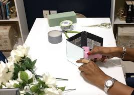 How To Make Floral Arrangements How To Make A Glam Mirror Box With Floral Arrangement Hometalk