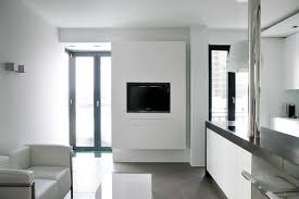 minimalist rustic living room low black walnut coffee table white