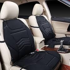 housse de si es auto universal dc12v alimenté voiture chauffée coussin de siège housse de