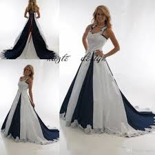 design your own wedding dress online discount vintage navy blue and white country wedding dresses 2018