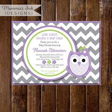 purple owl baby shower decorations items similar to owl baby shower invitation owl baby shower