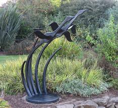 flying geese large metal bird sculpture
