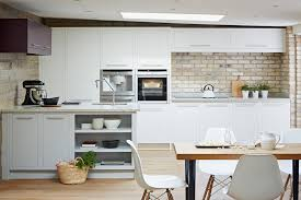 white urban in frame kitchen from john lewis of hungerford https despite being an inframe design the flat fronted urban cool kitchen brings a touch of modern living to any kitchen scheme john lewis of hungerford