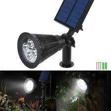 victsing 4 pack solar spotlights 4 led wall landscape solar