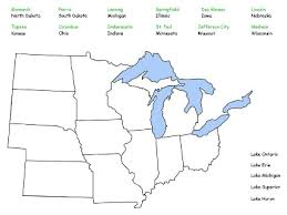 us map middle states middle west region map puzzle rm easilearn us