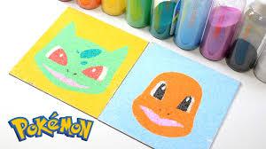 colored sand diy how to make u0027colored sand bulbasaur charmander u0027 pokemon d