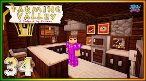 Minecraft Kitchen Furniture Minecraft Farming Valley New Kitchen Expansion Ep 34