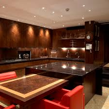contemporary kitchen wood veneer walnut island mayfair