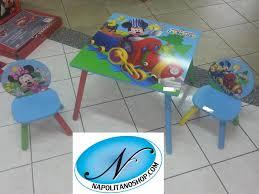 tavolo sedia bimbi tavolino in legno con sedie bambini modello disney mickey mouse