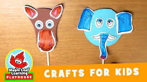 animal mask craft for kids 2 maple leaf learning playhouse