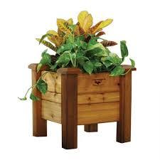 rustic planter box 18x34x19 gronomics