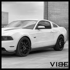 White Mustang With Black Wheels 20