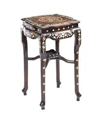 chinese rosewood side table a beautiful antique chinese rosewood mother of pearl table les