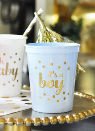 gold baby shower decorations its a boy baby shower decorations for boy blue baby shower cups