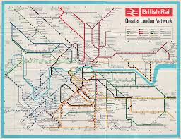 London Metro Map by This 1960s British Rail Map Shows All London U0027s Mainline Services