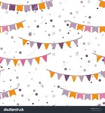 Bunting Flags Wedding Bunting Party Flags Garland Seamless Vector Stock Vector 394242178