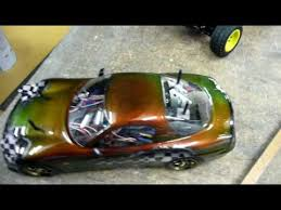 harlequin colour changing paint on a tamiya tt01 youtube