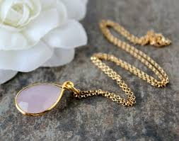 gold rose quartz necklace images Rose quartz pendant necklace pink quartz gemstone gold vermeil jpg