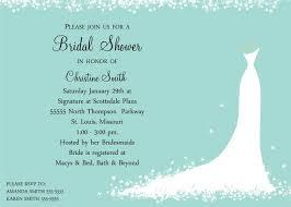 bridal shower gift template wedding invitation sample