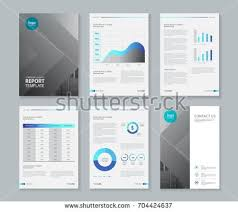 template design company profile annual report stock vector
