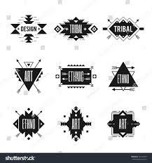ethnic black logo set tribal ornaments stock vector 324125525